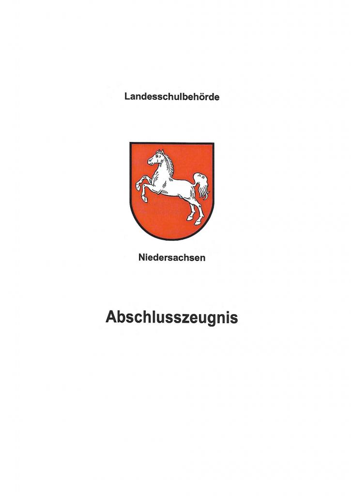 Staatlich geprüfter Techniker Technikerzeugnis - Abschlusszeugnis - Deckblatt