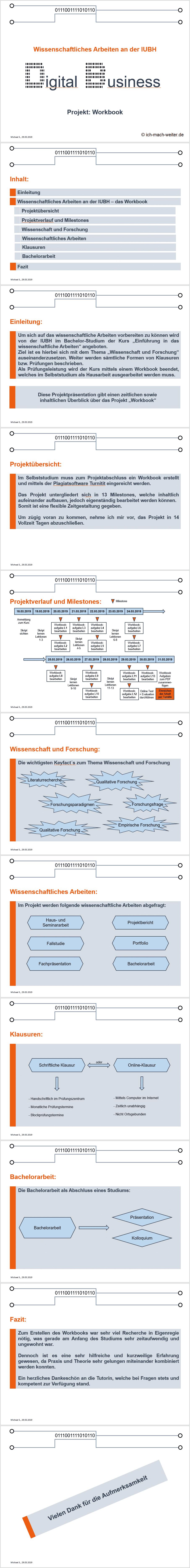 IUBH Workbook wissenschaftliches Arbeiten, meine Lösung zur Lektion 10