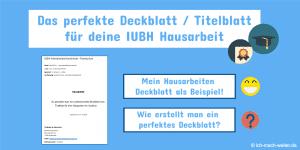 IUBH Hausarbeit Deckblatt / Titelblatt