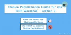 IUBH Studien Publikationen finden für das Workbook Lektion 2