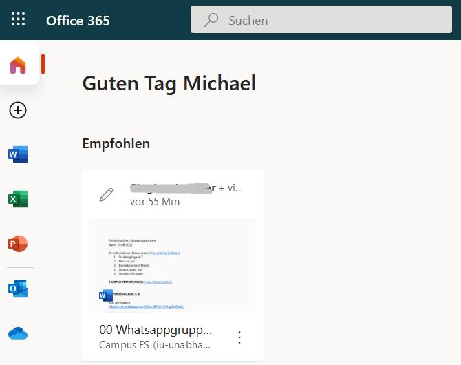 Du findest im IU Office 365 eine Übersicht aller IU WhatsApp Gruppen